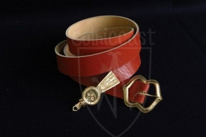European medieval belt (red) for 14-15 century