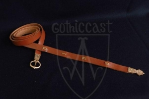 Medieval belt with letters