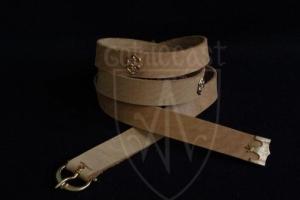 Medieval belt with mounts (beige)