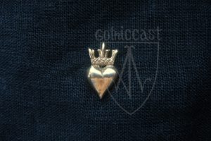 Crowned Heart Badge 14 - 15 centuries. Western Europe