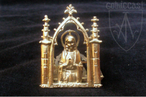 Ave Maria medieval badge