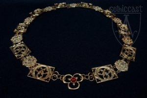 Knight necklace 14th-15th century Gothic&Roses