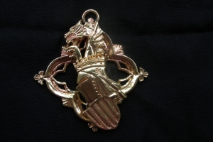 Medallion with helmet, medieval 15th century