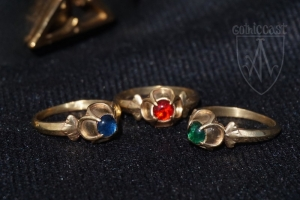 Medieval Ring with quatrefoil stone place