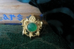 """""""Pineapple"""" brooch with green onyx XV c."""