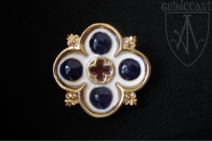 Gilded Flemish Brooch 14-15th century